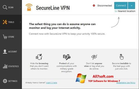 Screenshot Avast SecureLine VPN per Windows 7