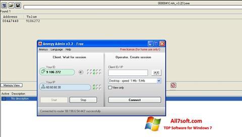 Screenshot Ammyy Admin per Windows 7