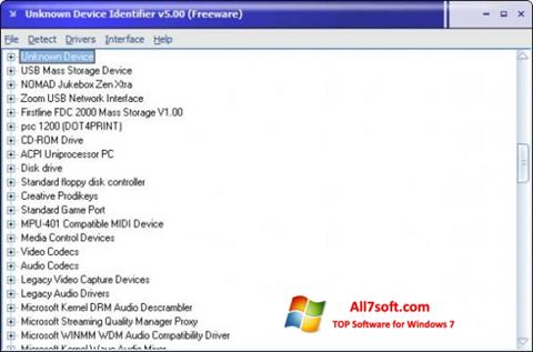Screenshot Unknown Device Identifier per Windows 7