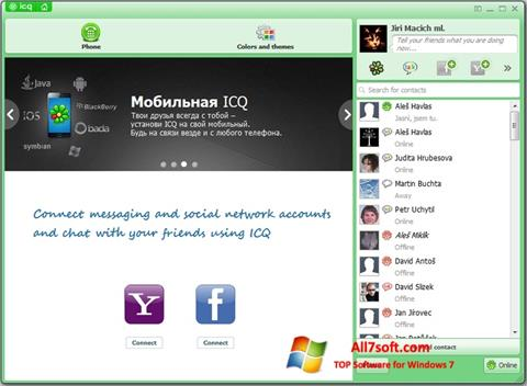 Screenshot ICQ per Windows 7