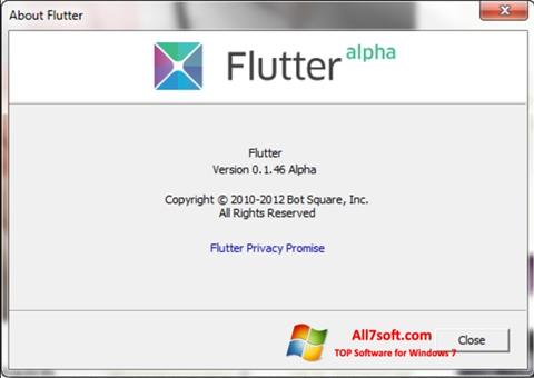 Screenshot Flutter per Windows 7