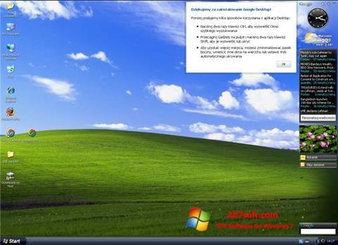 Screenshot Google Desktop per Windows 7