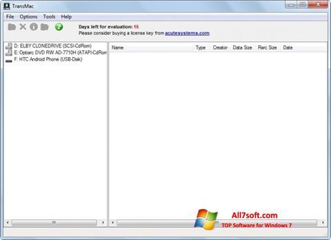 Screenshot TransMac per Windows 7