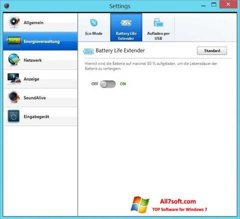 Screenshot Easy Settings per Windows 7