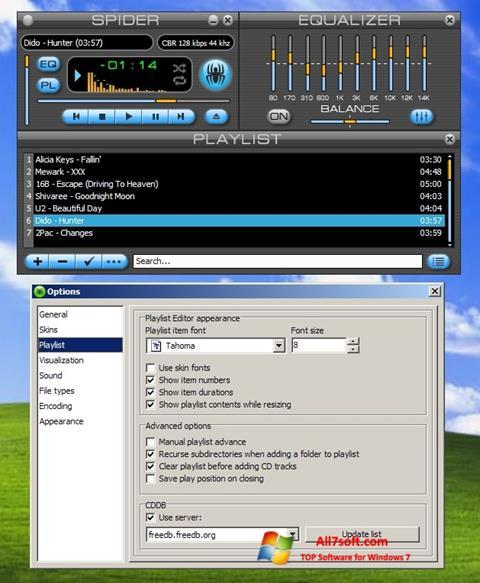 Screenshot Spider Player per Windows 7