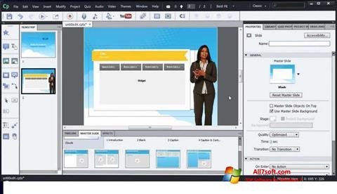 Screenshot Adobe Captivate per Windows 7