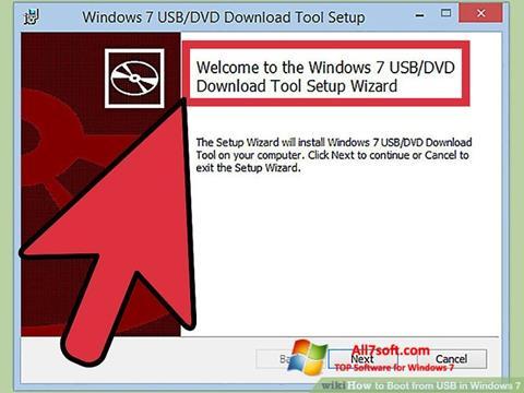 Screenshot Windows 7 USB DVD Download Tool per Windows 7