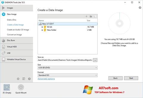 Screenshot DAEMON Tools Lite per Windows 7