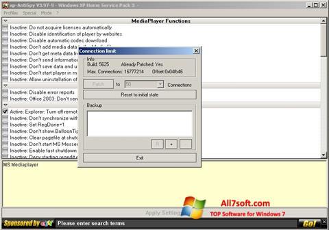 Screenshot XP-AntiSpy per Windows 7