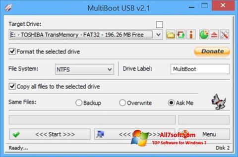 Screenshot Multi Boot USB per Windows 7