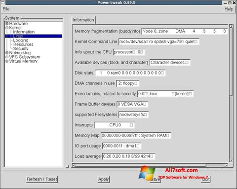 Screenshot PowerTweak per Windows 7