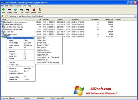 Screenshot 7-Zip per Windows 7