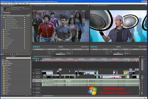 Screenshot Adobe Premiere Pro per Windows 7