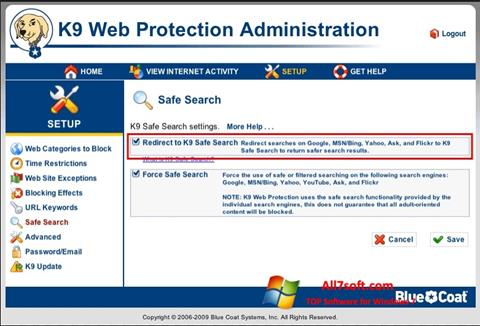 Screenshot K9 Web Protection per Windows 7