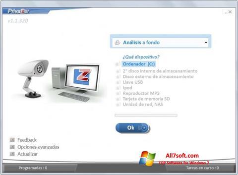 Screenshot PrivaZer per Windows 7