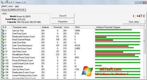 Screenshot S.M.A.R.T. Vision per Windows 7