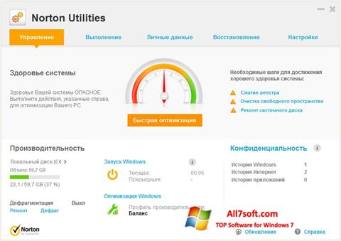 Screenshot Norton Utilities per Windows 7