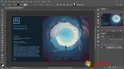 Screenshot Adobe Photoshop per Windows 7