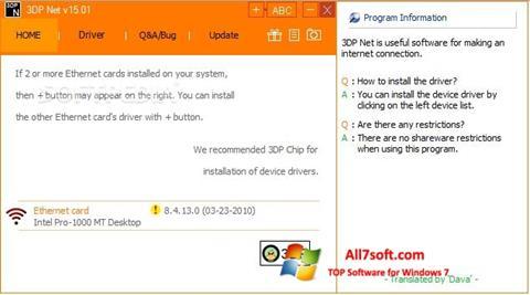 Screenshot 3DP Net per Windows 7
