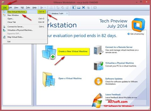 Screenshot VMware Workstation per Windows 7