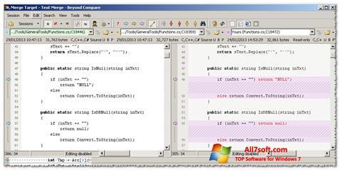 Screenshot Beyond Compare per Windows 7