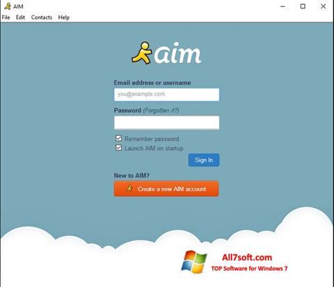Screenshot AOL Instant Messenger per Windows 7
