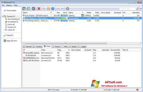 Screenshot BitTorrent per Windows 7