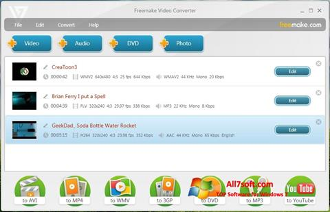 Screenshot Freemake Video Converter per Windows 7