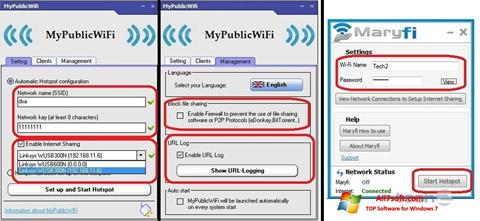 Screenshot MaryFi per Windows 7