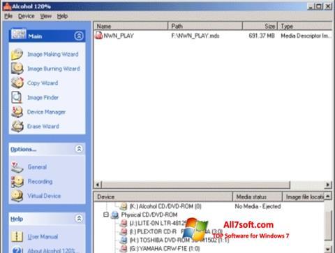Screenshot Alcohol 120% per Windows 7
