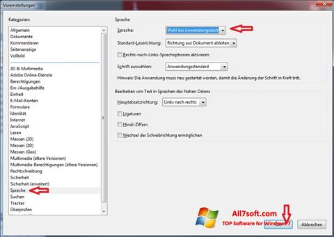 Screenshot Adobe Reader per Windows 7