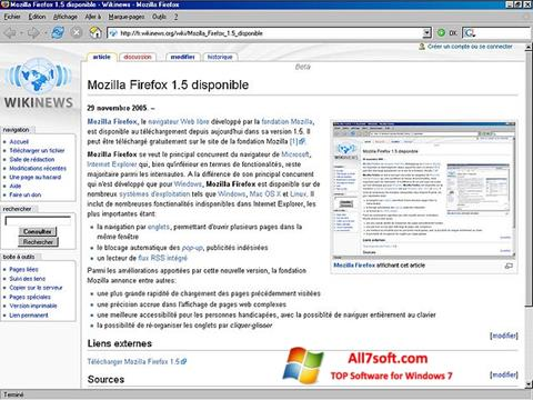 Screenshot Mozilla Firefox per Windows 7