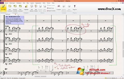 Screenshot Sibelius per Windows 7