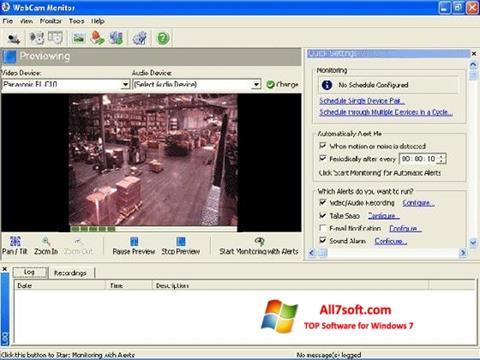 Screenshot WebCam Monitor per Windows 7