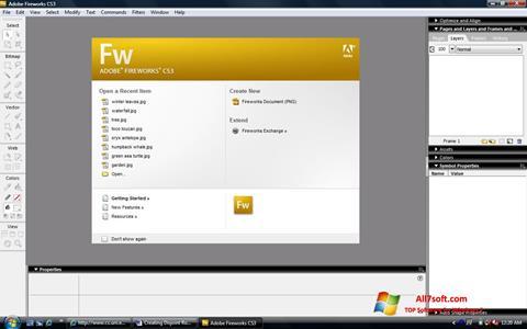 Screenshot Adobe Fireworks per Windows 7