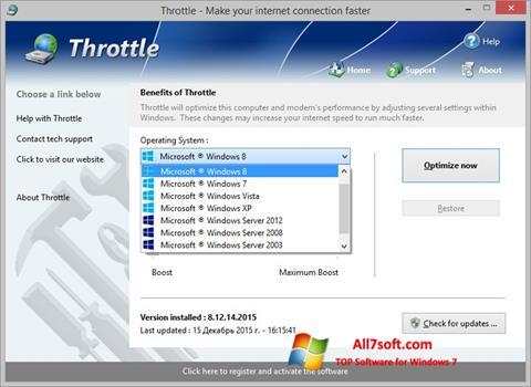 Screenshot Throttle per Windows 7