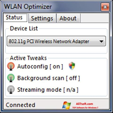 Screenshot WLAN Optimizer per Windows 7