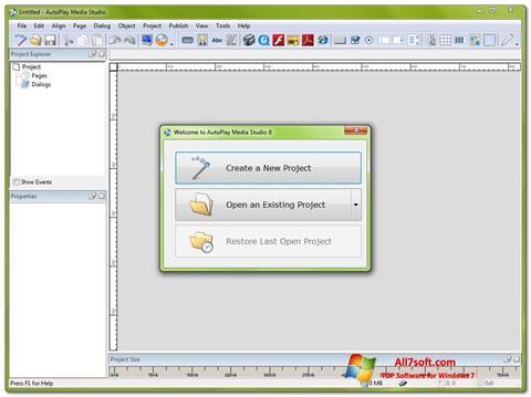 Screenshot AutoPlay Media Studio per Windows 7