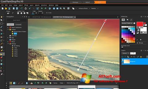 Screenshot PaintShop Pro per Windows 7