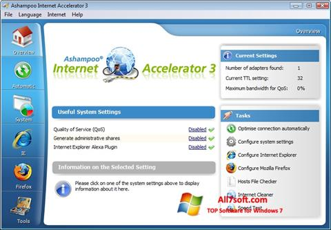 Screenshot Ashampoo Internet Accelerator per Windows 7