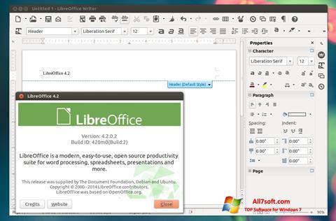 Screenshot LibreOffice per Windows 7