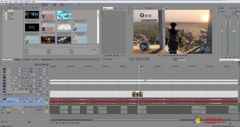 Screenshot Sony Vegas Pro per Windows 7