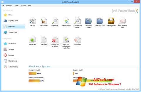 Screenshot jv16 PowerTools per Windows 7