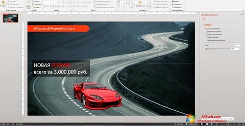 Screenshot Microsoft PowerPoint per Windows 7