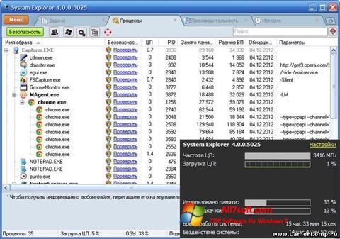 Screenshot System Explorer per Windows 7