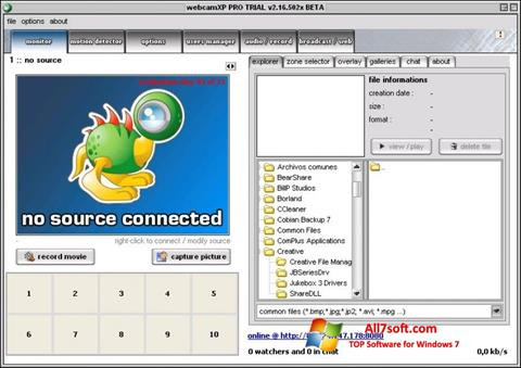 Screenshot webcamXP per Windows 7
