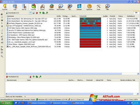 Screenshot eMule per Windows 7