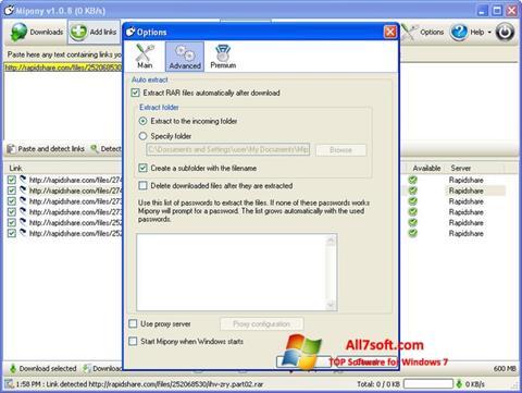 Screenshot Mipony per Windows 7