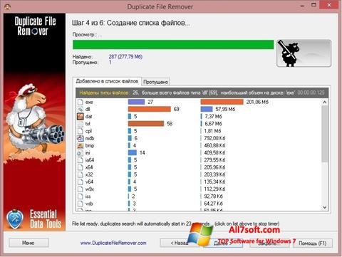 Screenshot Duplicate File Remover per Windows 7