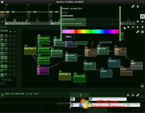 Screenshot SunVox per Windows 7